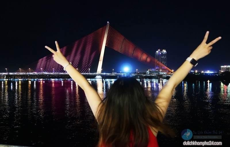Nice and gentle image of Tran Thi Ly Bridge in Da Nang