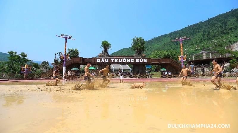 Mud bathing arena - Mount Than Tai