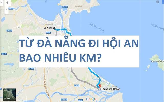 From Danang to Hoi An about 30km